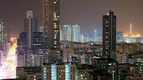 Thumbnail for Hong Kong city at night