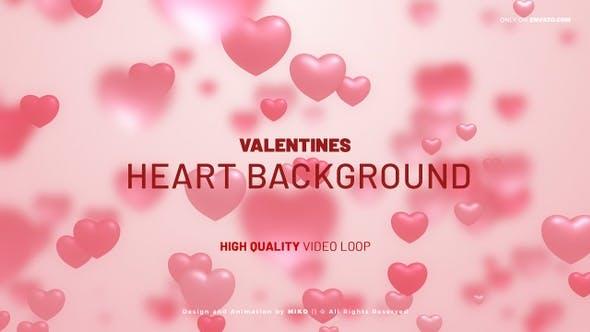Valentines Hearts Background