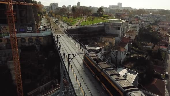 Thumbnail for Subway Train In Porto Bridge