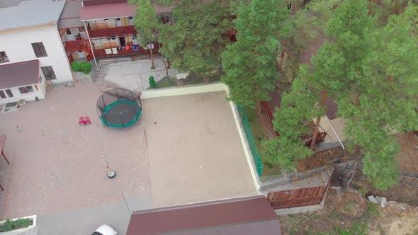 Child Playground Aerial
