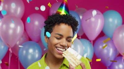Happy African American Woman Birthday