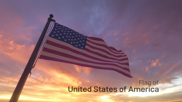 Thumbnail for American Flag on a Flagpole V3