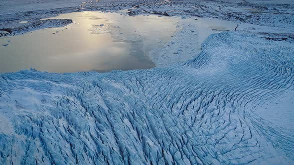Thumbnail for Aerial view of Vatnajokull Water Glacier in Iceland.