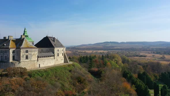 Thumbnail for Aerial View of Haunted Castle of Olesko, Ukraine