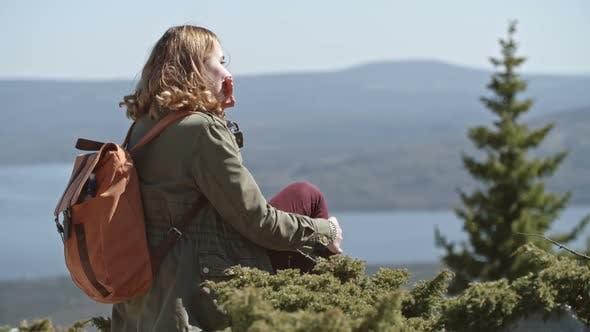 Thumbnail for Young Blond Woman Enjoying View