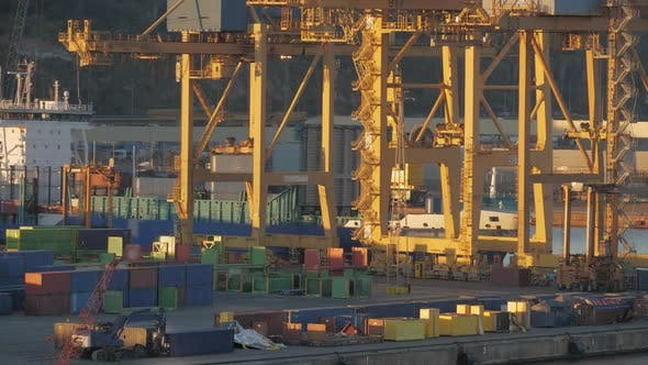 Thumbnail for Timelapse of Busy Container Port