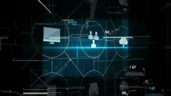 futuristic display of technology