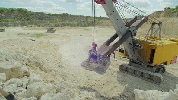 Thumbnail for Excavator loading ballast