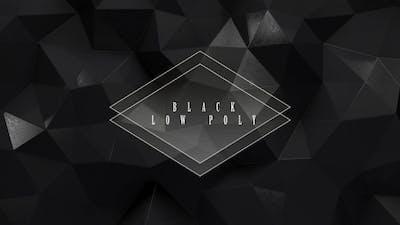 Black Low Poly
