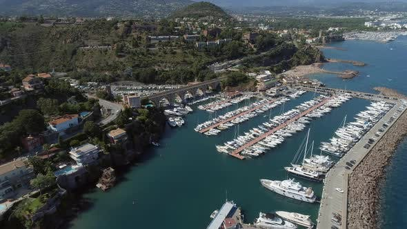 Thumbnail for Aerial View of Port De La Rague on the South Coast of France