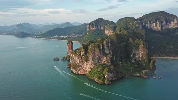 Thumbnail for Aerial View of Tropical Lagoon, Railay, Thailand