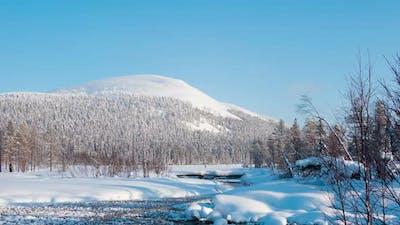 Winter Lake in Finland