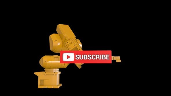 Robotic Arm and Youtube Subscribe