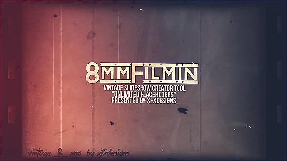 Thumbnail for 8mm Slideshow Creator Tool For Vintage Film Look
