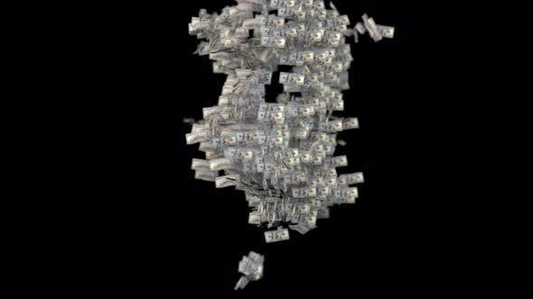 Thumbnail for Hundred Dollar Bill Loops in 4K
