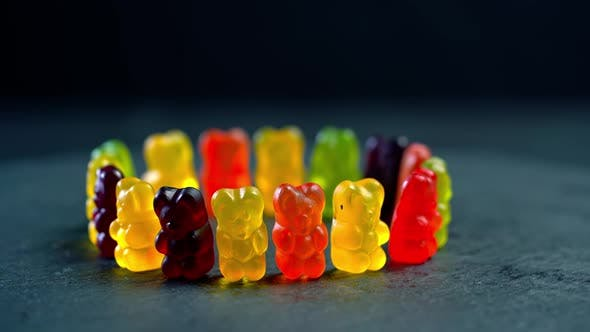 Thumbnail for Multicolored fruit gummy candy