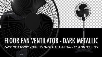 Floor Fan - Dark Metallic - Pack of 2