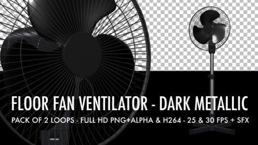 Cover Image for Floor Fan - Dark Metallic - Pack of 2