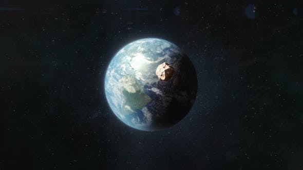 Thumbnail for Asteroid Approaching the Planet Earth
