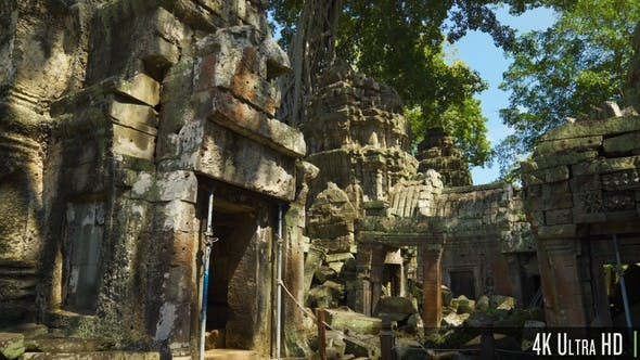 Thumbnail for 4K Ta Prohm Khmer Temple, Angkor, Cambodia