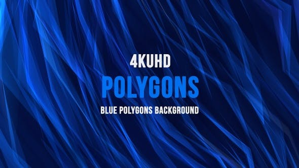 Thumbnail for Blue Polygons Background  4KUHD V4