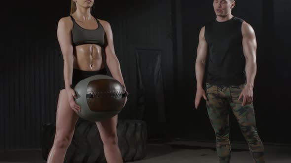 Thumbnail for Fitness Blogger Doing Sumo Squats