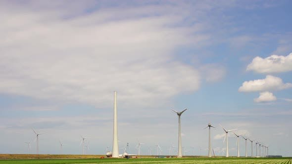 Thumbnail for Wind turbines in polder