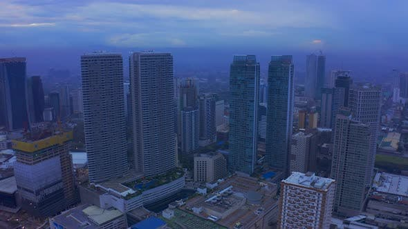 Thumbnail for Makati City Skyline and Modern Buildings Business District of Metro Manila, Philippines. Aerial