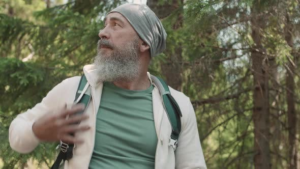 Thumbnail for Portrait of Aged Man Is Hiking