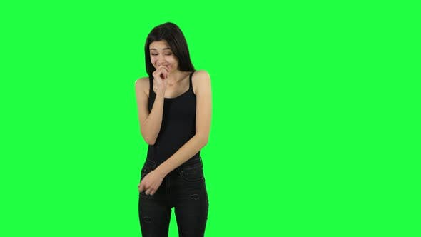 Thumbnail for Young Girl Throwing Up Hands Expressing She Is Innocent, Saying Oops She Doesn't Know What's Going