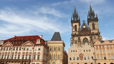 Historical Old Town square in Prague, Czech