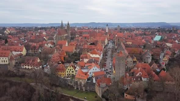 Thumbnail for Aerial Panorama of Rothenburg Ob Der Tauber