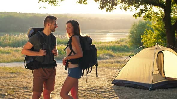 Thumbnail for Couple Traveling with Backpacks