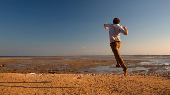 Thumbnail for Happy Man Running Away