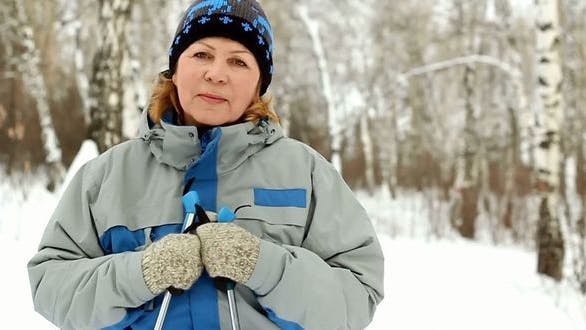 Thumbnail for Portrait of Adult Woman in Winter Park