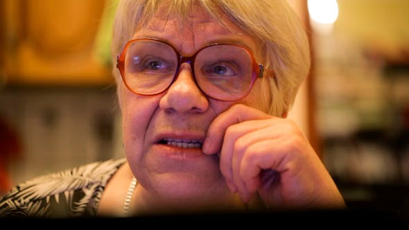 Cover Image for Modern Elderly Woman Using Skype