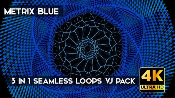 Thumbnail for Metrix VJ-Loops, Blau