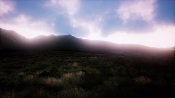 Thumbnail for Aerial Green Hills Landscape in Fog