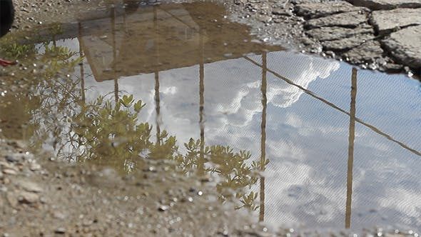 Thumbnail for Sky Reflection on Puddle