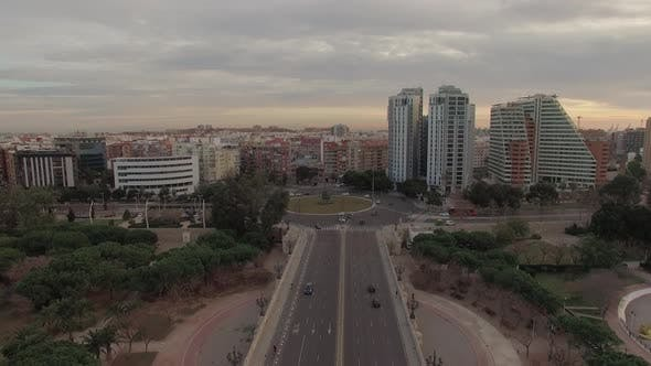 Thumbnail for Aerial Cityscape of Valencia, Spain