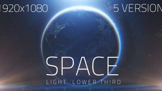 Thumbnail for Space Light Lower Third V1 (5 Pack)