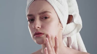 Acne Treatment Facial Cleansing Woman Face Skin