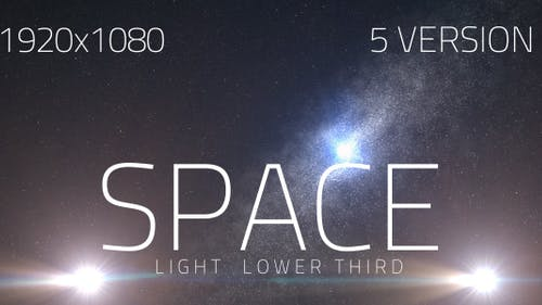 Space Light Lower Third V2 (5 Pack)