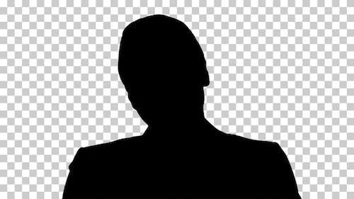 Silhouette Frau, Alpha Channel