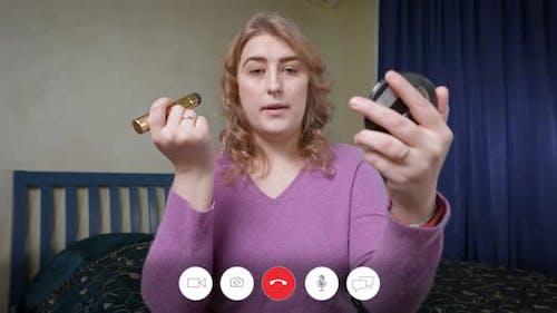 Interface de chat vidéo en ligne