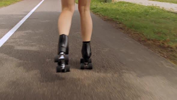 Roller Skater On The Street