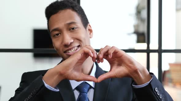 Thumbnail for Heart Sign by Black Businessman