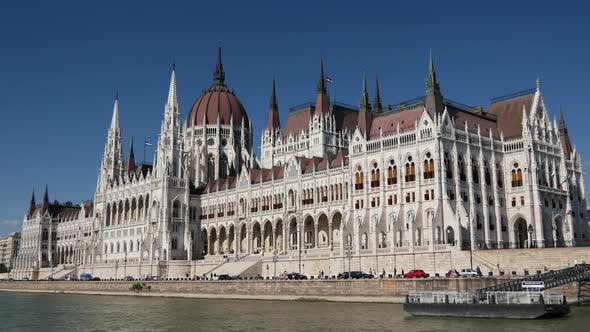 Cover Image for View from a cruise at Hungarian Parliament Building