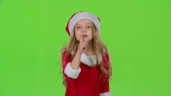 Thumbnail for Baby of the Assistant Santa Claus Say Quietly To Their Elves. Green Screen