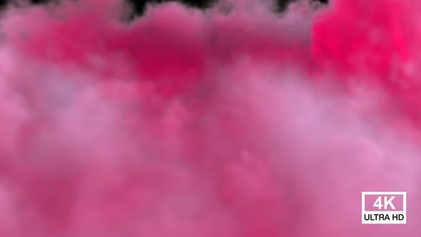 Pink Color Smoke Streaming And Spreading Falling Down On The Floor V5